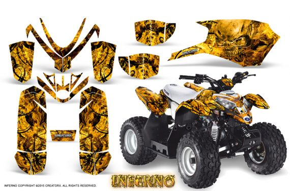 Polaris Outlaw Predator 50 Graphics Kit Inferno Yellow 570x376 - Polaris Predator 50 Graphics