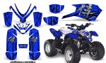 Polaris Outlaw Predator 50 Graphics Kit Samurai Black Blue 150x90 - Polaris Predator 50 Graphics