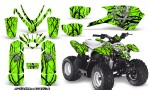Polaris Outlaw Predator 50 Graphics Kit Samurai Black Green 150x90 - Polaris Predator 50 Graphics