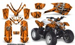 Polaris Outlaw Predator 50 Graphics Kit Samurai Black Orange 150x90 - Polaris Predator 50 Graphics