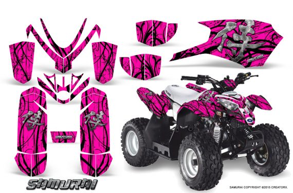 Polaris Outlaw Predator 50 Graphics Kit Samurai Black Pink 570x376 - Polaris Predator 50 Graphics