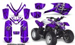 Polaris Outlaw Predator 50 Graphics Kit Samurai Black Purple 150x90 - Polaris Predator 50 Graphics