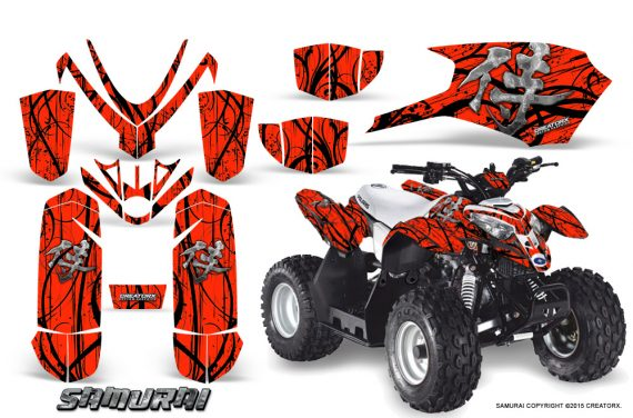 Polaris Outlaw Predator 50 Graphics Kit Samurai Black Red 1 570x376 - Polaris Outlaw 50 Graphics