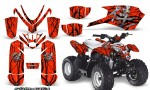 Polaris Outlaw Predator 50 Graphics Kit Samurai Black Red 150x90 - Polaris Predator 50 Graphics