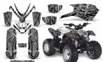 Polaris Outlaw Predator 50 Graphics Kit Samurai Black Silver 150x90 - Polaris Predator 50 Graphics