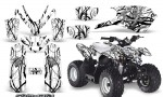 Polaris Outlaw Predator 50 Graphics Kit Samurai Black White 150x90 - Polaris Predator 50 Graphics