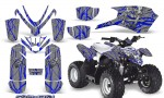 Polaris Outlaw Predator 50 Graphics Kit Samurai Blue Silver 150x90 - Polaris Predator 50 Graphics