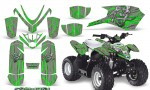 Polaris Outlaw Predator 50 Graphics Kit Samurai Green Silver 150x90 - Polaris Predator 50 Graphics