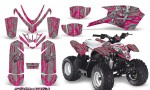 Polaris Outlaw Predator 50 Graphics Kit Samurai Pink Silver 150x90 - Polaris Predator 50 Graphics