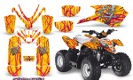 Polaris Outlaw Predator 50 Graphics Kit Samurai Pink Yellow 150x90 - Polaris Predator 50 Graphics