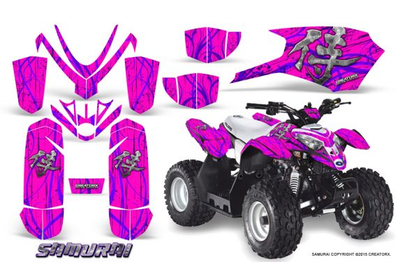 Polaris Outlaw Predator 50 Graphics Kit Samurai Purple Pink 1 570x376 - Polaris Outlaw 50 Graphics