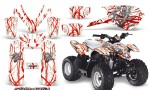 Polaris Outlaw Predator 50 Graphics Kit Samurai Red White 150x90 - Polaris Predator 50 Graphics