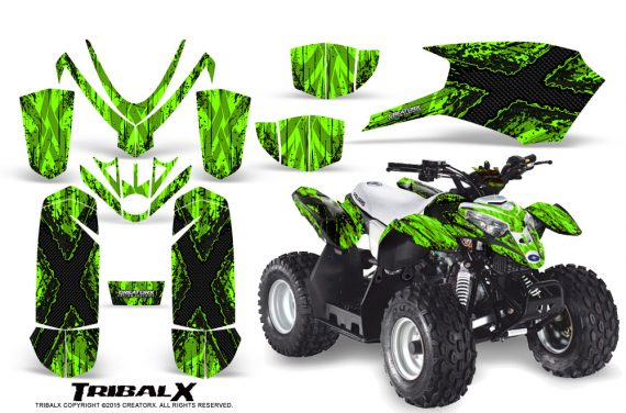 Polaris Outlaw Predator 50 Graphics Kit TribalX Black Green 570x376 - Polaris Predator 50 Graphics