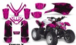 Polaris Outlaw Predator 50 Graphics Kit TribalX Black Pink 150x90 - Polaris Predator 50 Graphics