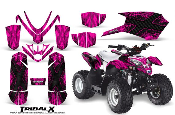 Polaris Outlaw Predator 50 Graphics Kit TribalX Black Pink 570x376 - Polaris Predator 50 Graphics