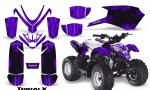 Polaris Outlaw Predator 50 Graphics Kit TribalX Black Purple 150x90 - Polaris Predator 50 Graphics