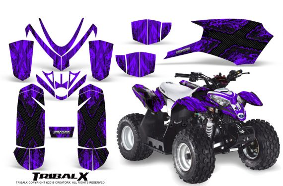 Polaris Outlaw Predator 50 Graphics Kit TribalX Black Purple 570x376 - Polaris Predator 50 Graphics
