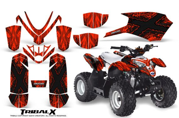 Polaris Outlaw Predator 50 Graphics Kit TribalX Black Red 1 570x376 - Polaris Outlaw 50 Graphics