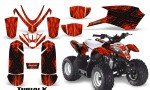 Polaris Outlaw Predator 50 Graphics Kit TribalX Black Red 150x90 - Polaris Predator 50 Graphics