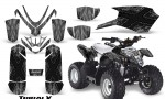 Polaris Outlaw Predator 50 Graphics Kit TribalX Black Silver 150x90 - Polaris Predator 50 Graphics