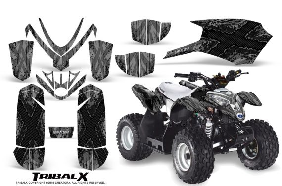 Polaris Outlaw Predator 50 Graphics Kit TribalX Black Silver 570x376 - Polaris Predator 50 Graphics
