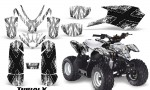 Polaris Outlaw Predator 50 Graphics Kit TribalX Black White 150x90 - Polaris Predator 50 Graphics