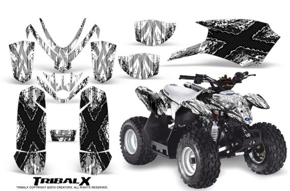 Polaris Outlaw Predator 50 Graphics Kit TribalX Black White 570x376 - Polaris Predator 50 Graphics