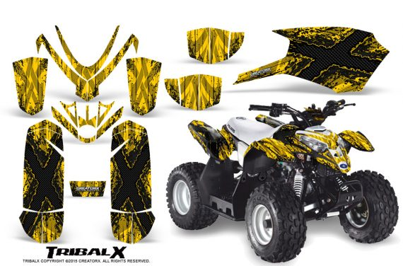 Polaris Outlaw Predator 50 Graphics Kit TribalX Black Yellow 570x376 - Polaris Outlaw 50 Graphics