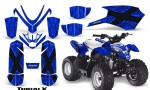 Polaris Outlaw Predator 50 Graphics Kit TribalX Blue Blue 150x90 - Polaris Predator 50 Graphics