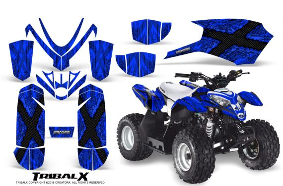 Polaris Outlaw Predator 50 Graphics Kit TribalX Blue Blue 570x376 - Polaris Predator 50 Graphics