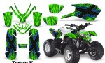 Polaris Outlaw Predator 50 Graphics Kit TribalX Blue Green 150x90 - Polaris Predator 50 Graphics