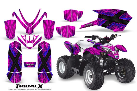 Polaris Outlaw Predator 50 Graphics Kit TribalX Blue Pink 1 570x376 - Polaris Outlaw 50 Graphics