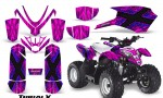 Polaris Outlaw Predator 50 Graphics Kit TribalX Blue Pink 150x90 - Polaris Predator 50 Graphics