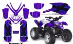 Polaris Outlaw Predator 50 Graphics Kit TribalX Blue Purple 150x90 - Polaris Outlaw 50 Graphics