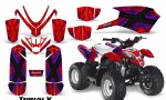 Polaris Outlaw Predator 50 Graphics Kit TribalX Blue Red 150x90 - Polaris Predator 50 Graphics