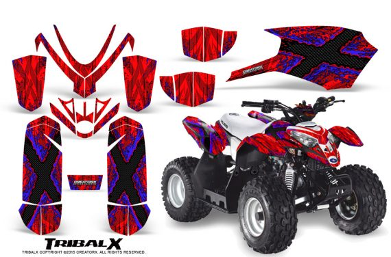 Polaris Outlaw Predator 50 Graphics Kit TribalX Blue Red 570x376 - Polaris Predator 50 Graphics