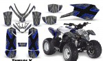 Polaris Outlaw Predator 50 Graphics Kit TribalX Blue Silver 150x90 - Polaris Predator 50 Graphics