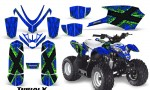 Polaris Outlaw Predator 50 Graphics Kit TribalX Green Blue 150x90 - Polaris Predator 50 Graphics