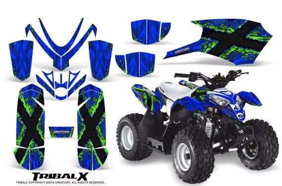 Polaris Outlaw Predator 50 Graphics Kit TribalX Green Blue 570x376 - Polaris Predator 50 Graphics