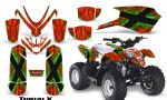 Polaris Outlaw Predator 50 Graphics Kit TribalX Green Red 150x90 - Polaris Predator 50 Graphics