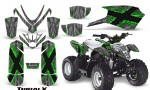 Polaris Outlaw Predator 50 Graphics Kit TribalX Green Silver 150x90 - Polaris Predator 50 Graphics