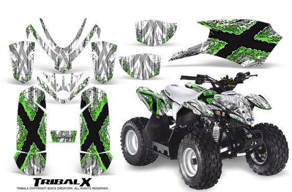 Polaris Outlaw Predator 50 Graphics Kit TribalX Green White 1 570x376 - Polaris Outlaw 50 Graphics