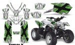 Polaris Outlaw Predator 50 Graphics Kit TribalX Green White 150x90 - Polaris Predator 50 Graphics