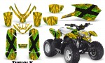 Polaris Outlaw Predator 50 Graphics Kit TribalX Green Yellow 150x90 - Polaris Predator 50 Graphics