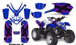 Polaris Outlaw Predator 50 Graphics Kit TribalX Pink Blue 150x90 - Polaris Predator 50 Graphics