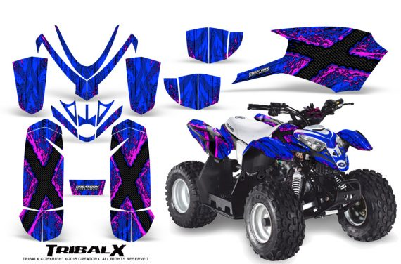 Polaris Outlaw Predator 50 Graphics Kit TribalX Pink Blue 570x376 - Polaris Predator 50 Graphics