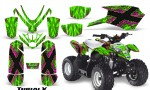 Polaris Outlaw Predator 50 Graphics Kit TribalX Pink Green 150x90 - Polaris Predator 50 Graphics