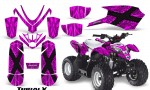 Polaris Outlaw Predator 50 Graphics Kit TribalX Pink Pink 150x90 - Polaris Predator 50 Graphics