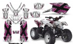 Polaris Outlaw Predator 50 Graphics Kit TribalX Pink White 150x90 - Polaris Predator 50 Graphics