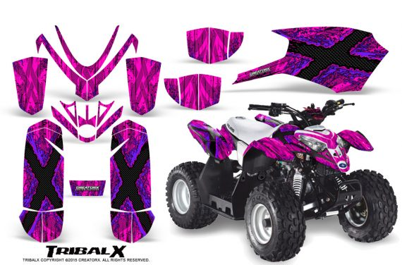 Polaris Outlaw Predator 50 Graphics Kit TribalX Purple Pink 570x376 - Polaris Predator 50 Graphics